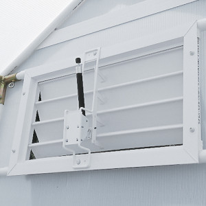 Solar Louver Opener automatically lets in fresh air when needed.