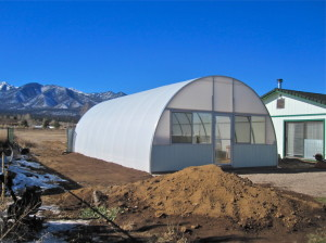 aquaponics greenhouse with Solexx greenhouse covering